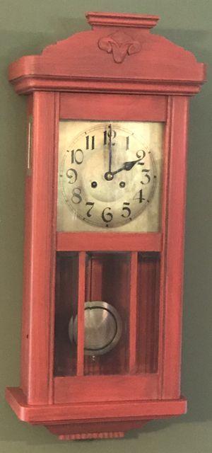 "Antique Kienzle 32"" x 14"" x 7"" German Gong Chime Wall Clock Vienna Regulator for Sale in Lexington, SC"