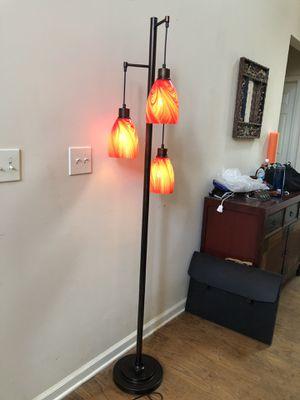Blown glass 3 light floor lamp for Sale in Cumming, GA