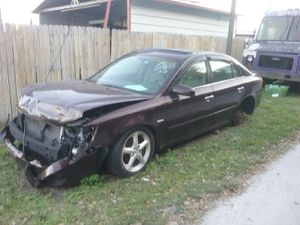 2007 Hyundai Sonata GLS parting out motor tranny interior doors truck bumper four cylinder for Sale in Longwood, FL