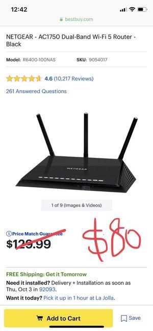 NETGEAR - AC1750 WiFi router (model R6400) for Sale in San Diego, CA