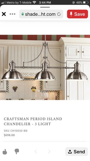 Kitchen island 3 light pendant for Sale in Humble, TX