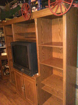 Wood entertainment center make offer for Sale in Twin Falls, ID