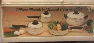7 PC Porcelain Enamel Cookware Set for Sale in Washington, DC