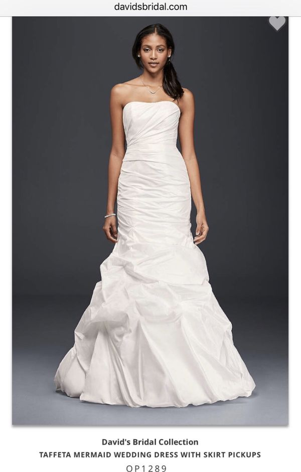 New with tags Wedding Dress - Taffeta Mermaid style: Size 8/10