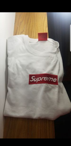 supreme white box logo embroidered large for Sale in Fairfax, VA