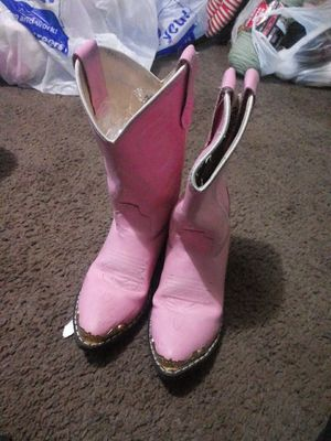 Girls pink cowgirl boots 6.5 for Sale in Indianapolis, IN