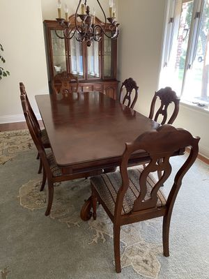 Solid wood dining table for Sale in Bakersfield, CA