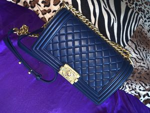 Chanel Boy Bag - Blue for Sale in Pittsburgh, PA