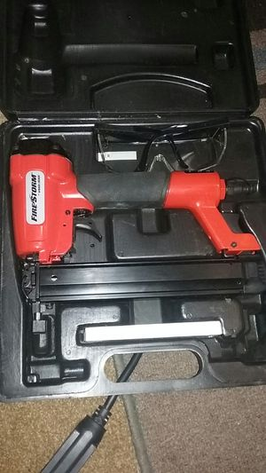 Fire Storm small framing nail gun, w/safety glasses and nail bits included. for Sale in Williamsport, PA
