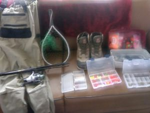 Complete set up river fishing for Sale in Tacoma, WA