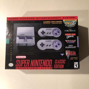 Super Nintendo console classic edition snes mini with 21 games for Sale in Cumberland, RI