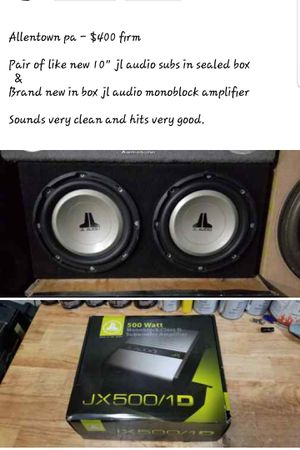 Jl audio subs and amp new for Sale in Fullerton, PA
