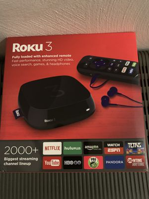 ROKU 3 fully loaded with enhanced remote. for Sale in Penn Hills, PA