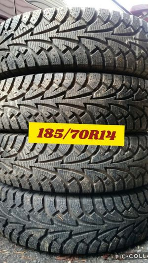 New Set 4 wheels/snow tires 4holes universal 4x100/ 4x114 civic, accord, jetta, kia for Sale in Vancouver, WA