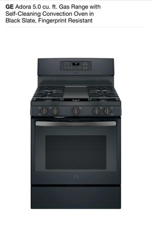 GE Adora 5.0 cu. ft. Gas Range with Self-Cleaning Convection Oven in Black Slate for Sale in Atlanta, GA