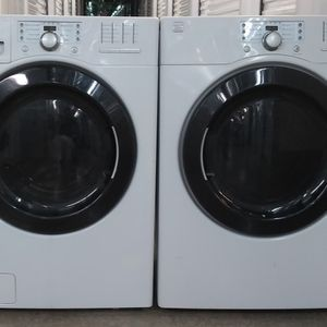KENMORE HIGH EFFICIENCY STEAM FRONT LOAD WASHER AND DRYER ON SALE WITH WARRANTY for Sale in Irving, TX