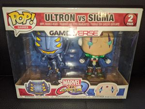 Funko Pop GamerVerse Marvel Capcom ULTRON vs SIGMA 2-pack vinyl figure set for Sale in San Diego, CA