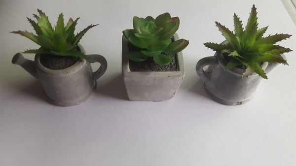 Mini Artificial succulent fake potted plant 3 set