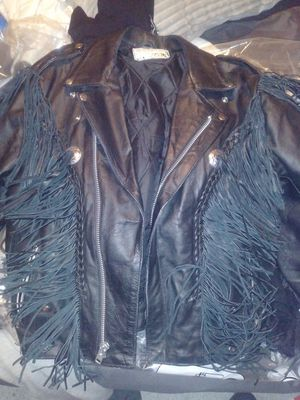 Shelter USA leather motorcycle jacket for Sale in North Richland Hills, TX