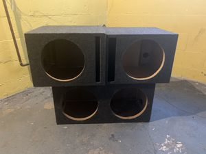 12 in subwoofer boxes for Sale in Detroit, MI