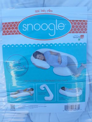Leachco Snoogle Original Maternity/Pregnancy Total Body Pillow, Ivory for Sale in Murphy, TX