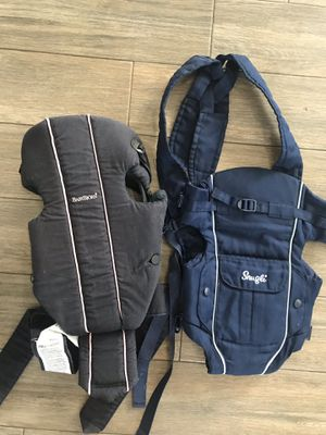 Baby carriers- two kinds- Snugli, Baby Bjorn for Sale in West Palm Beach, FL