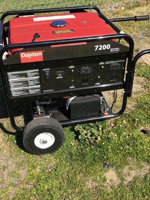 Dayton Electric/Recoil Gasoline Generator, 7200 for Sale in Modesto, CA