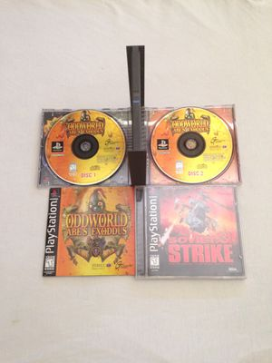 PlayStation Games: Odd World Abe's Exoddus Great Condition & Soviet Strike Great Condition Both For $10 for Sale in Reedley, CA