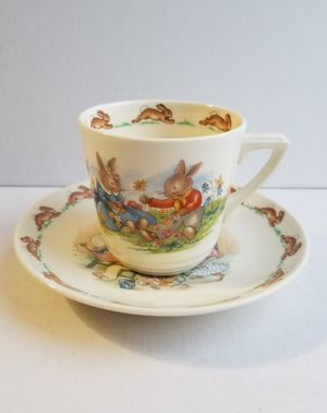 Royal Doulton Bunnykins childs cup saucer porcelain for Sale in Allentown, PA