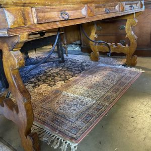 Scroll Leg Wood And Iron Rustic Executive Desk for Sale in San Diego, CA