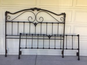 Moving Must Sell-Cal King Iron Bed Frame for Sale in Temecula, CA