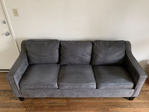 Grey Microfiber 3 Seater Sofa for Sale in Los Angeles, CA