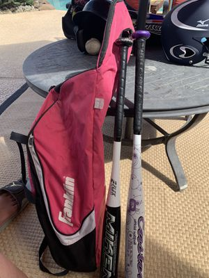Youth baseball bats x 2 and bag for Sale in Modesto, CA