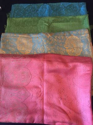 Beautifully designed shawls about 3ft long and 1ft wide for Sale in Washington, DC