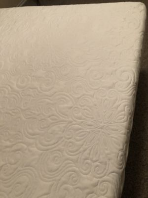 """Selling gently used new queen 12""""memory foam bed with frame . Bed - $100 with foldable iron frame $150 for Sale in Coppell, TX"""