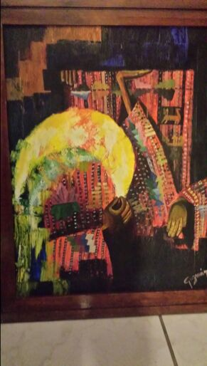 Vintage painting abstract signed by guzman for Sale in Opa-locka, FL