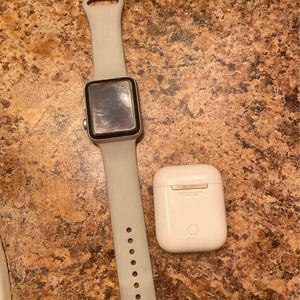 Apple Watch Series 3 , AirPods 1st Gen. 200 For Both OBO. I Haven Black Band To Go With The Watch for Sale in Spring Hill, FL