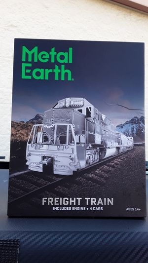 Metal Earth Model Freight Train ,Includes Engine + 4 Cars for Sale in Portland, OR