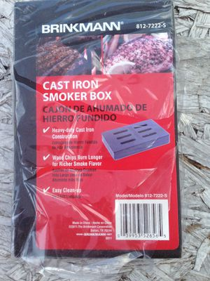 BRINKMANN Cast Iron Barbecue BBQ Smoker Box New for Sale in Winnsboro, SC