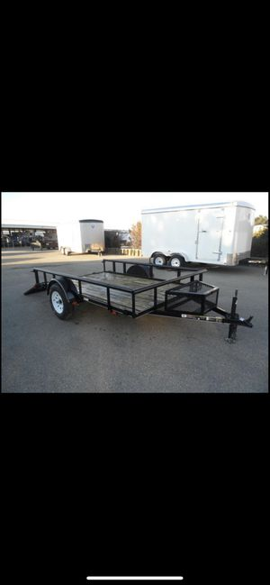 6 Ft x 10 Ft Utility Trailer with Ramp & Lock Box for Sale in Holladay, UT
