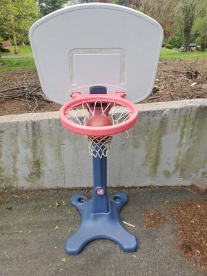 Children's adjustable basketball hoop with ball for Sale in East Longmeadow, MA
