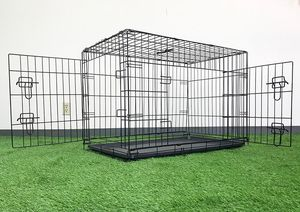 """(NEW) $45 Folding 36"""" Dog Cage 2-Door Pet Crate Kennel w/ Tray 36""""x23""""x25"""" for Sale in South El Monte, CA"""