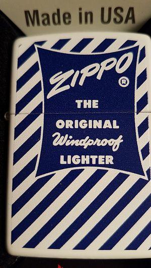 Zippo blue white original logo 1958-59 white matte 29413 for Sale in Los Angeles, CA