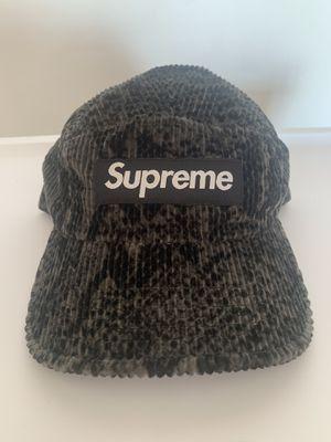 Supreme Snakeskin Corduroy Camp Cap Black for Sale in Hacienda Heights, CA