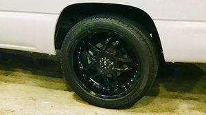 """22"""" 6x5.5 Chevy Silverado wheels and tires for Sale in Tampa, FL"""