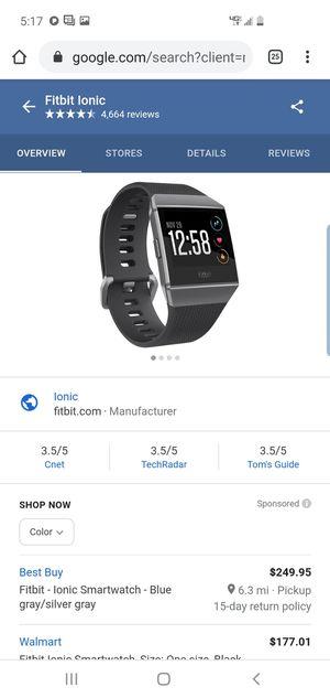 Fitbit ionic for Sale in Philadelphia, PA