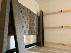 King bed frame with headboard (must pick up today) Huntington Beach for Sale in Huntington Beach, CA