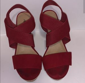 (American eagle) red high heels 👠 size: 6.5 for Sale in Cornelius, OR