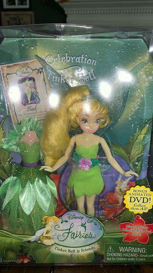 Brand New Celebration Tinker Bell Disney Fairies plus DVD for Sale in Norfolk, VA