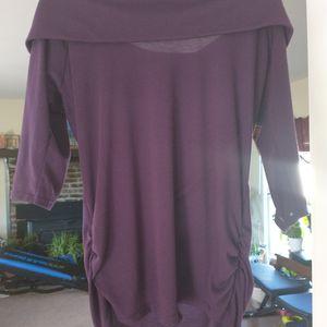 Purple Long Sleeve Off Shoulder Shirt for Sale in Nathalie, VA